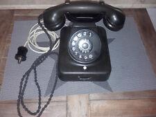Telefon,Bakelit,W49 Post, Walzenstecker,schwarz