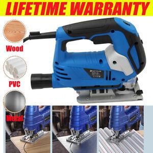 Heavy Duty 2200W Laser Guide Electric Jigsaw 45° Pendulum Cutting Jig Saws Tool
