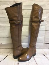 PAOLA FERRI LADIES BROWN LEATHER OVER KNEE BOOTS SIZE UK 6 EU 39