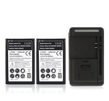2x Battery 3500mAh +Charger For Samsung Galaxy Note 3 III N9000 N9005 N900 N900A