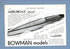 """The  BOWMAN """"SNIPE"""" STEAM LAUNCH   (1935 Advertisement)"""