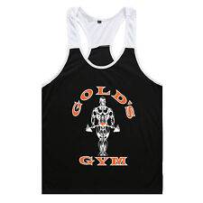 Mens Golds Gym Vest Muscle Joe Tank Top Fitness Stringer Bodybuilding Muscle Tee