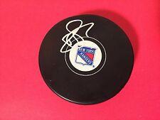 Brandon Pirri Rangers Hockey Signed Auto Puck COA