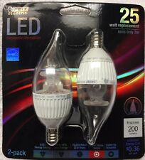 Feit Electric Performance Led Dimmable Candelabra Base Flame Tip 3 Watts Led