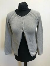 N621 GIRLS JOULES KNITWEAR GREY SILVER BUTTON FRONT CARDIGAN AGE 9-10 YEARS