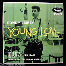SONNY JAMES-YOUNG LOVE-A Nice EP Picture Sleeve-CAPITOL #EAP 1-827