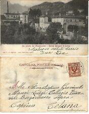 Cartolina LECCO BARCO di MAGGIANICO Lago di Como 1900 ca. Postcard Como Lake