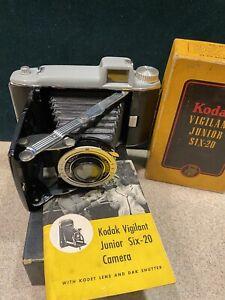 Vintage Kodak Vigilant Junior Six-20 620 Camera Box W/Tourist Camera Lot