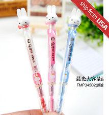 Lot 3pcs M&G Miffy Rabbit 0.7mm Click Mechanical Pencil w/10 refills Cute Kawaii