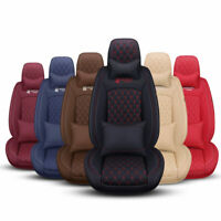 8D Luxury Car Sit Covers Truck Cushion Front Rear Set 5-Seat Interior PU Leather