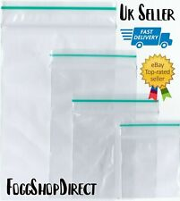 More details for 100 clear small plastic bags baggy grip self seal resealable zip lock plastic
