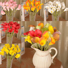 Artificial Calla Lily Bouquet head Fake Silk Flower Wedding Party Home Decor New