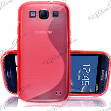 COQUE ETUI HOUSSE TPU S SILICONE GEL ROUGE POUR SAMSUNG GALAXY S3 I9300