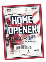 2012 LA ANGELS VS KANSAS CITY ROYALS OPENING DAY TICKET STUB 4/6/12