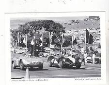 """*Postcard-""""Porsche & Lister-Cross Finish Line!"""" -1950's- *Mazda Raceway (#87"""