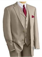 Khaki Suits Groom Wedding Formal Tuxedos Best Man Bridegroom Suits Custom Made
