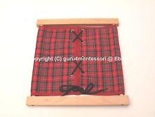 NEW Montessori Practical Life Material - Beechwood Lacing Dressing Frame