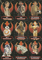 Star Wars Journey to Force Awakens ~ HEROES OF THE RESISTANCE 9-Card Insert Set