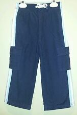 Boys GYMBOREE Navy Blue Lined Cargo Track Pull On Active Elastic Waist Pants 3T
