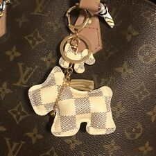 Designer inspired Scottie Dog Checkered Tassel KeyChain Bag Charm  keychain