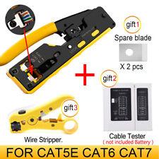 Cat7 RJ45 Crimper Network Tools Pliers RJ12 Cat5 Cat6 8P Cable Stripper Pressing