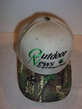 "The Sportsman's Weekly ""OUTDOOR NEWS"" camo brim hunting cap one size NEW"