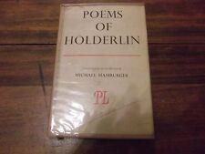 Poems of Holderlin, trans Michael Hamburger, Hardcover 1943 1st edition