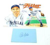 2000 Baseball Print By LARRY WEBER Of BOB FELLER Signed CLEVELAND INDIANS