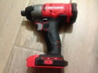 """NEW Craftsman CMCF800 V20 Brushless 1/4"""" Hex Impact Driver - Bare Tool"""