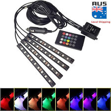 4 x 9 LED RGB Interior Car Auto Under Dash Foot Seat Inside Light Remote Control