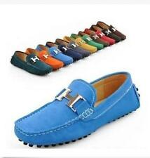 BJ 172 11 Color Men's Nubuck Cow Leather Slip On Driving Moccasin Loafer Shoes