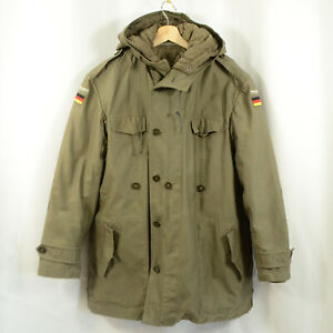 Vintage Military RAKA German Winter Parka Coat, Removable Liner, Hooded, L/XL