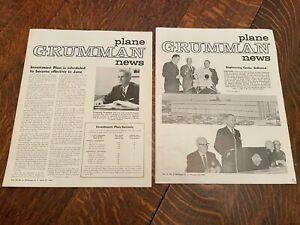 Vintage Grumman Plane News Magazine Newspaper Lot 1963 & 1965