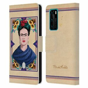 OFFICIAL FRIDA KAHLO PORTRAIT LEATHER BOOK CASE FOR HUAWEI PHONES
