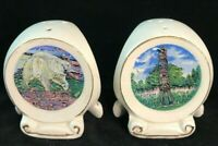 Vintage Three Sided Alaska Salt and Pepper Shakers Made in Japan
