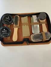 7 Piece Travel Shoe Shine Kit in Zippered Case