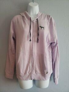 Victoria Secret Pink Zip up Hoodie Size Large Light Purple OBO!