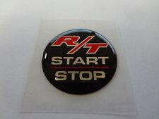 Challenger Keyless Go Starter Push Start Button Emblem Decal R/T Start Stop Blk