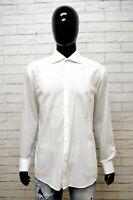 Camicia Uomo HUGO BOSS Taglia 43 17 XL Maglia Polo Shirt Bianca Cotone Hemd Slim