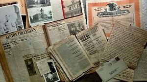 CIRCA 1824-1934 HANDWRITTEN LETTERS SCRAPBOOKS PHOTOS KENYON COLLEGE OHIO 100 pc