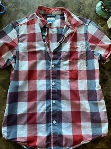 Red Checkered Button Up Columbia Shirt