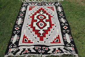5' X 8' NAVAJO Navaho South American Wool RUG Kilim Flat Weave Oriental Area Rug