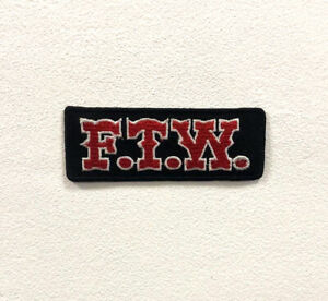 FTW Black Badge Clothes Iron on Sew on Embroidered Patch appliqué