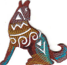COYOTE - SOUTHWEST - WEST -ANIMALS - NATIVE AMERICAN - Iron On Embroidered Patch