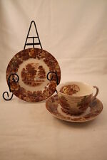 Nasco Mountain Woodland Cup & Saucer Bread & Butter Plate Japan Country Scene