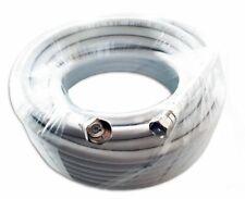 Arcas Câble coaxial Satellite blanc 120dB 75 Ohms 5m, 10m, 20m, 30m, 50m ou 100