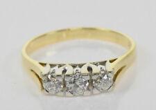 Gelb - Weißgold Ring 18 Kt. Gold Billantenring  Diamanten Echtschmuck Nr.1492