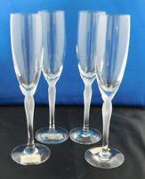 "(4) Lenox Spring Mist White Champagne Flutes 9 1/4 ""  A-15"