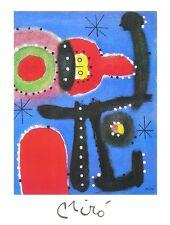 JOAN MIRO Peinture Poster Art Imprimé Image 80x60cm