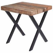 ORION Kaffeetisch / Beistelltisch mit Tischplatte aus Teakholz + Metallgestell L